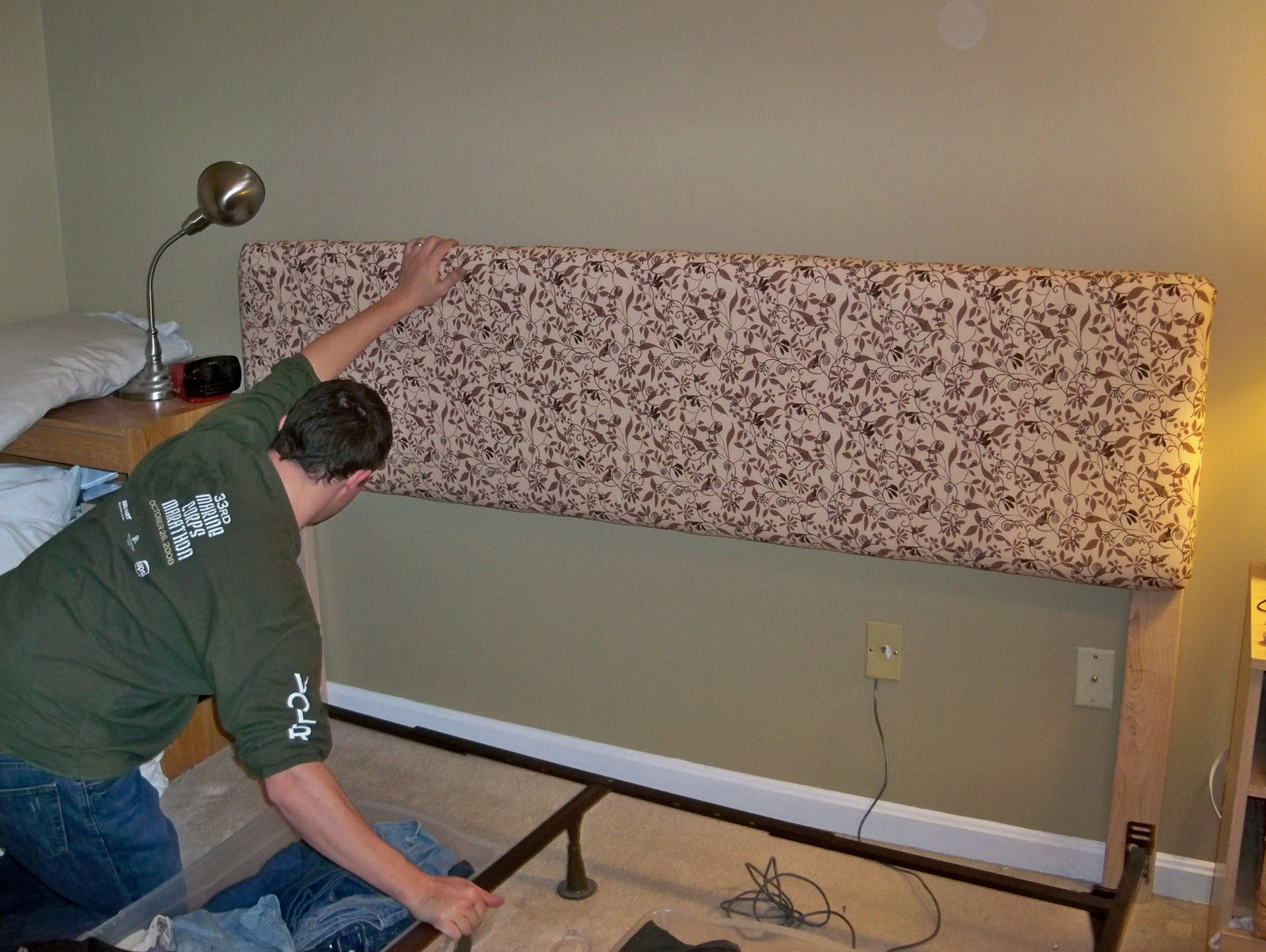 Homemade headboard instructions allthingsgale How to make your own headboard